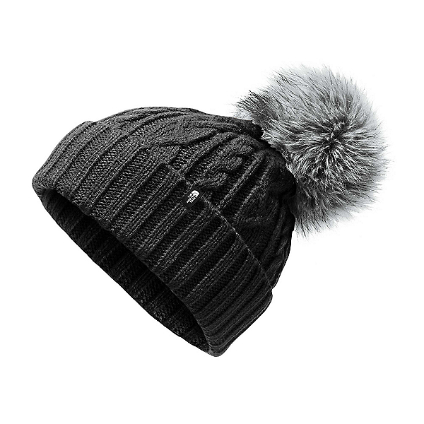 The North Face Oh-Mega Fur Pom Beanie Womens Hat 2022, TNF Black, 600