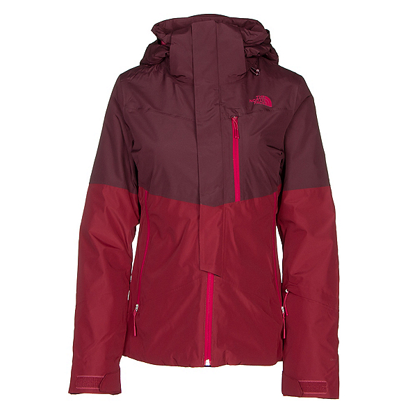 The North Face Garner Triclimate Womens Insulated Ski Jacket, Rumba Red-Fig, 600