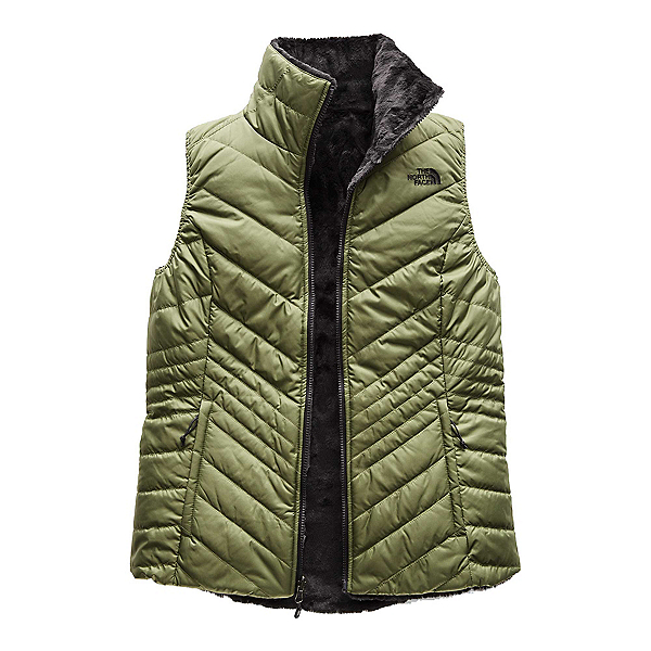 The North Face Mossbud Insulated Reversible Womens Vest (Previous Season), Four Leaf Clover-Weathered Black, 600