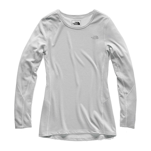 The North Face Presta Long Sleeve Crew Womens Mid Layer (Previous Season), TNF Light Grey Heather, 600