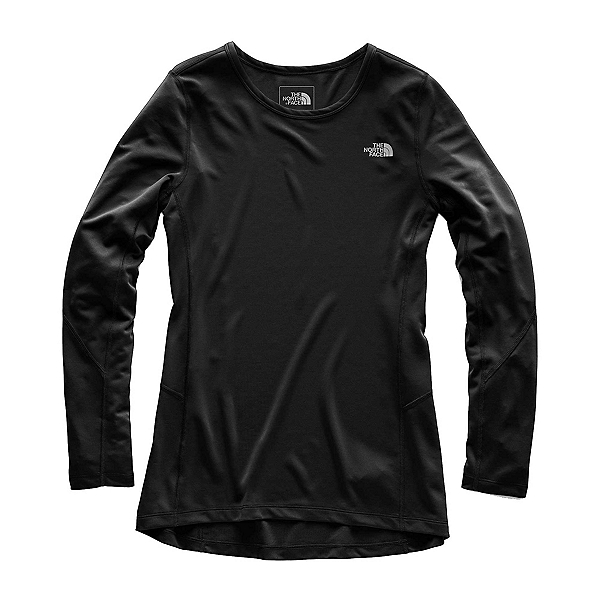 The North Face Presta Long Sleeve Crew Womens Mid Layer, TNF Black, 600