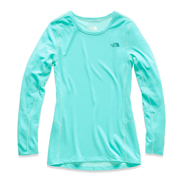 The North Face Presta Long Sleeve Crew Womens Mid Layer (Previous Season), Mint Blue Heather, 600