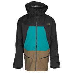 7ac33706859d8 The North Face Purist Mens Shell Ski Jacket, TNF Black-Kokomo Green-Beech