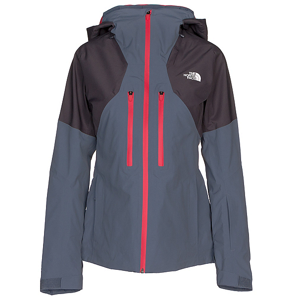 The North Face Powder Guide Womens Insulated Ski Jacket, Periscope Grey-Grisaille Grey, 600