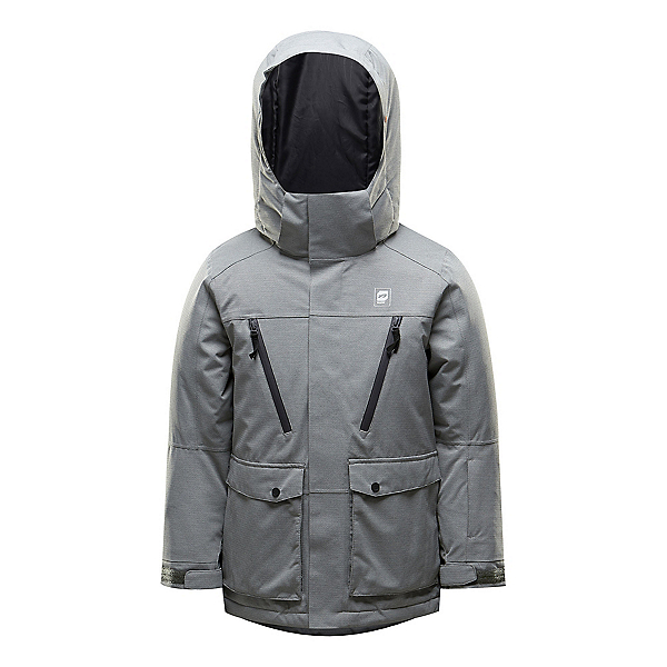 Orage Storm Boys Ski Jacket 2019, Heather Grey, 600