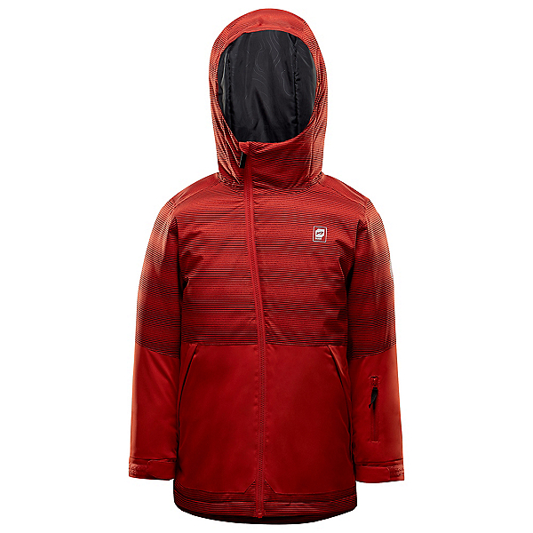 Orage Dub Boys Ski Jacket, English Red Stripe Print, 600