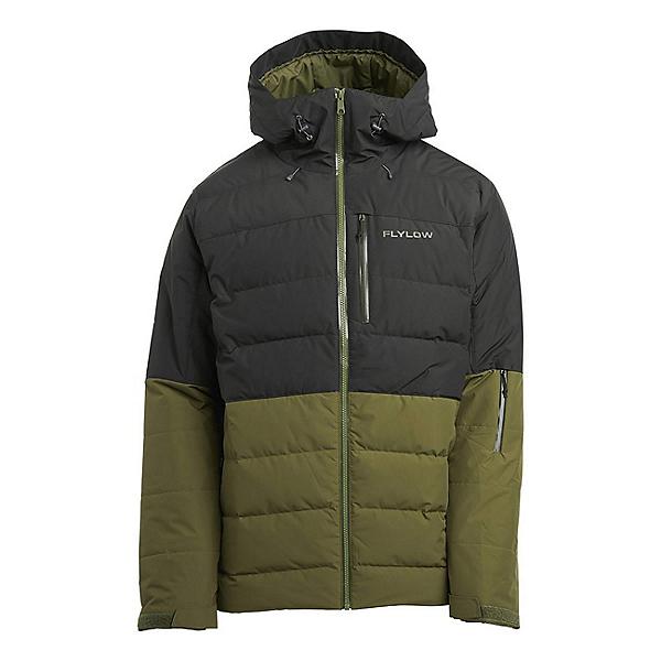 Flylow Colt Down Mens Insulated Ski Jacket, Black-Seaweed, 600