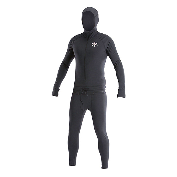 Air Blaster Classic Ninja Suit Mens Long Underwear, Black, 600