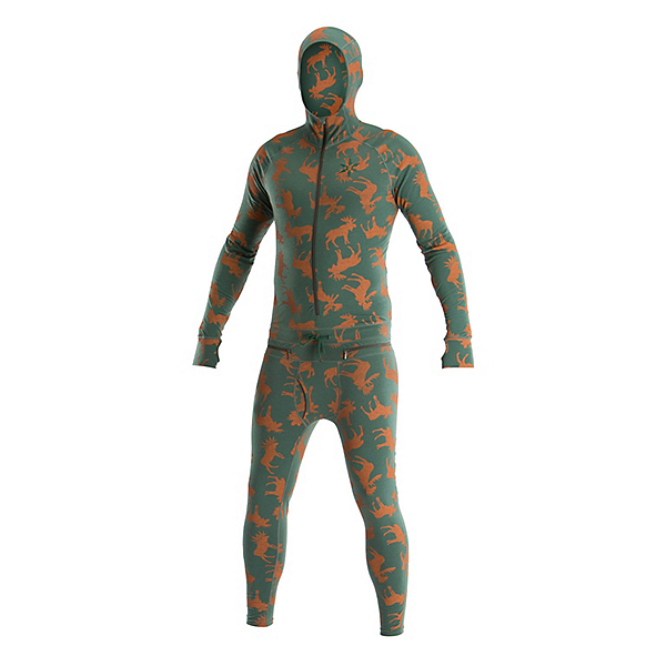 Air Blaster Classic Ninja Suit Mens Long Underwear, Olive Moose, 600