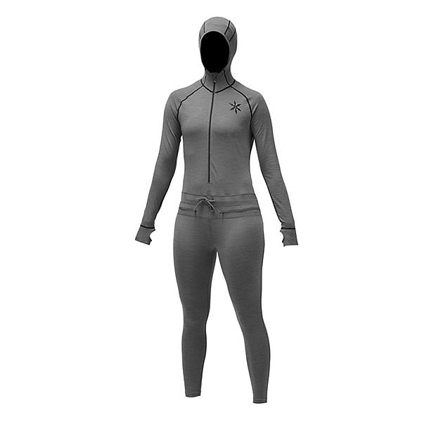 Air Blaster Merino Ninja Suit Womens Long Underwear, Natural Black, 600