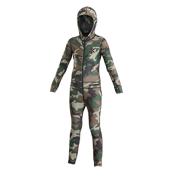 Air Blaster Youth Ninja Suit Kids Long Underwear, Camo, 600