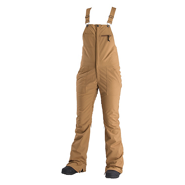 Air Blaster Hot Bib Womens Snowboard Pants, Camel, 600