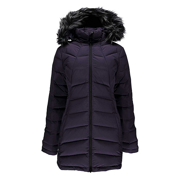 Spyder Syrround Long Faux Fur Down Womens Jacket, , 600