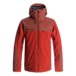 Quiksilver Arrow Wood Mens Insulated Snowboard Jacket, Ketchup Red, 256
