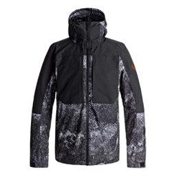 Quiksilver Travis Rice Ambition Mens Insulated Snowboard Jacket, Marine Iguana Bw, 256