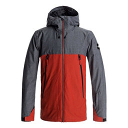 Quiksilver Sierra Mens Insulated Snowboard Jacket, Ketchup Red, 256