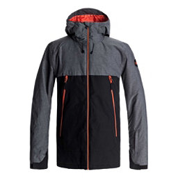 Quiksilver Sierra Mens Insulated Snowboard Jacket, Black, 256