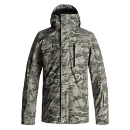 Quiksilver Mission 3 in 1 Mens Shell Snowboard Jacket, Grape Leaf Camokazi, 256