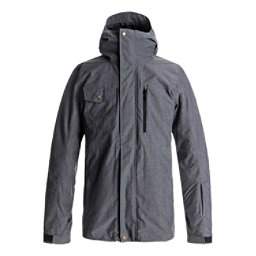 Quiksilver Mission 3 in 1 Mens Shell Snowboard Jacket, Black, 256