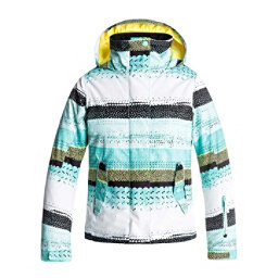 Roxy Jetty Girls Snowboard Jacket, Aruba Blue-Lizzydots, 256
