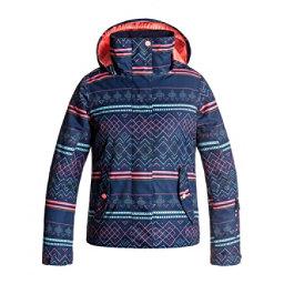 Roxy Jetty Girls Snowboard Jacket, Sodalite Blue-Asta Fairisle, 256