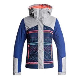 Roxy Flicker Girls Snowboard Jacket, Sodalite Blue-Asta Fairisle, 256