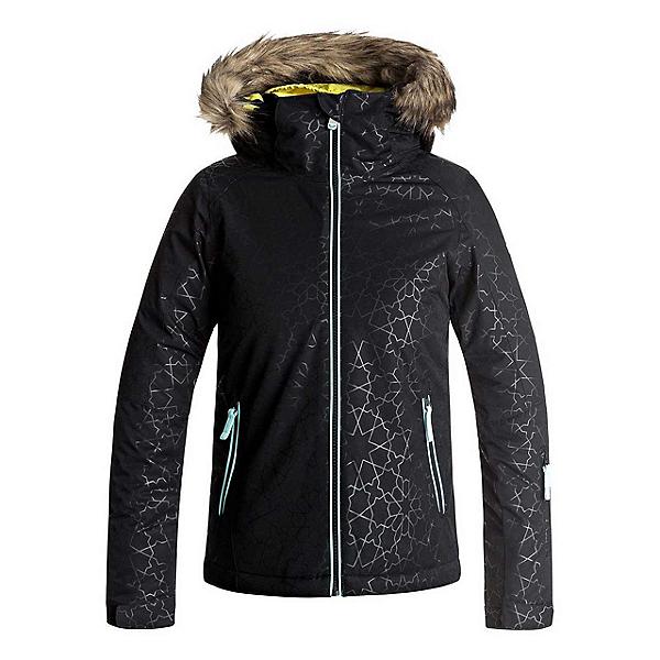 Roxy American Pie Solid w/Faux Fur Girls Snowboard Jacket, , 600