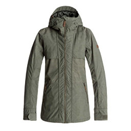 Roxy Shaded Womens Insulated Snowboard Jacket, Dust Ivy, 256