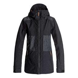 Roxy Shaded Womens Insulated Snowboard Jacket, True Black, 256