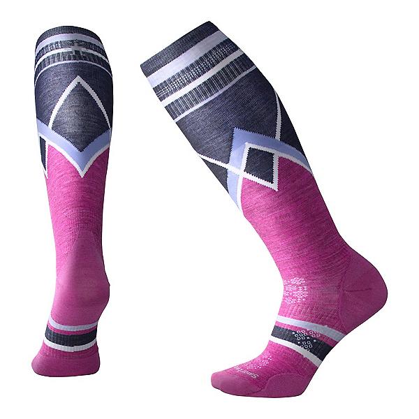SmartWool PHD Ultra Light Pattern Womens Ski Socks, Meadow Mauve, 600