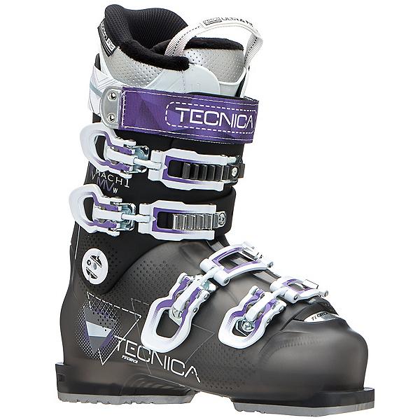 Tecnica Mach 1 R W MV Womens Ski Boots, Black-Purple, 600