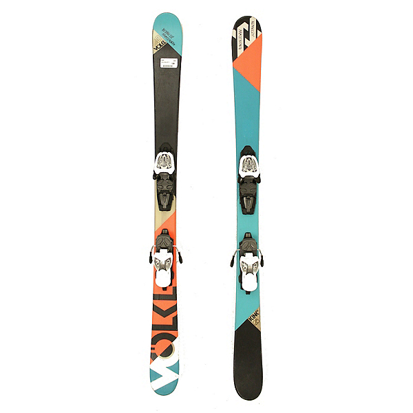 Used 2012 Volkl Kink Jr Kids Skis Marker 4.5 Bindings A Condition, , 600