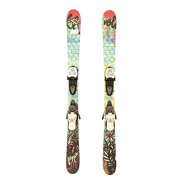 Used 2012 Volkl Pearl Girls Kids Skis Marker 4.5 Bindings A Condition, , 600
