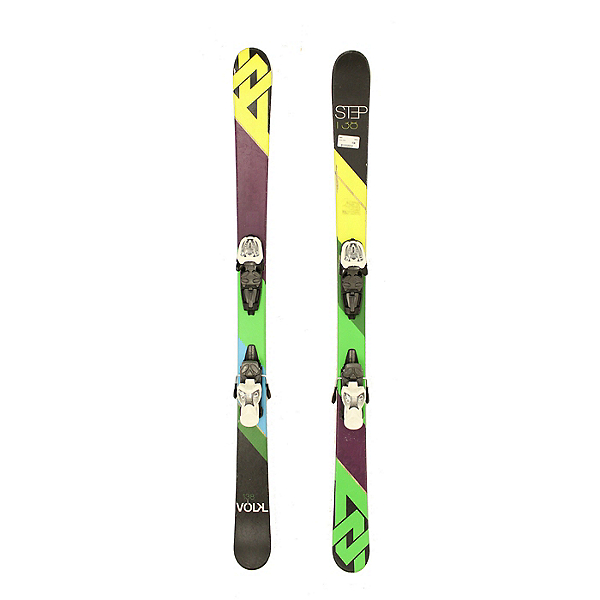 Used 2014 Volkl Step Jr Big Kids Youth Skis Marker 7.0 Bindings C Condition, , 600