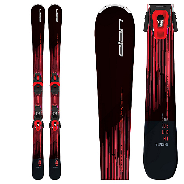 Elan Delight Supreme Womens Skis with ELW 10 GW Bindings, , 600