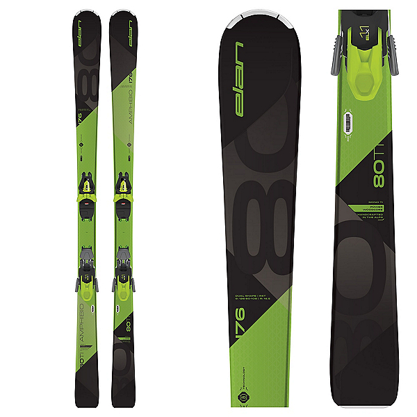 Elan Amphibio 80 Ti Skis with ELX 11 GW Bindings, , 600