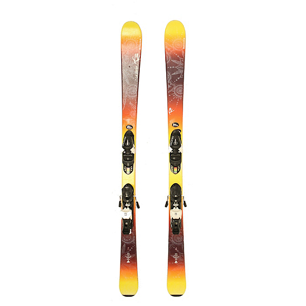 Used 2016 K2 Luv Machine 74 Ti Skis Fischer XTR 10 Bindings A Condition, , 600