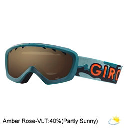 Giro  Kids Goggles, Green Hideout-Amber Rose, 256