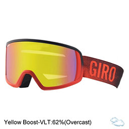 Giro Scan Goggles, Red Faded-Yellow Boost, 256