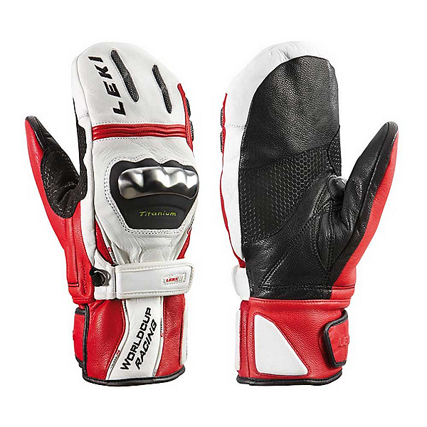 Leki World Cup Racing TI S Ski Racing Gloves, White Red Black, 600