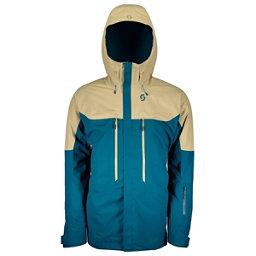 Scott Vertic 2L Mens Insulated Ski Jacket, Sahara Beige-Lunar Blue, 256