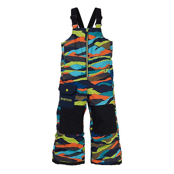 Burton Minishred Maven Bib Toddler Boys Ski Pants, Summit Stripe, 600