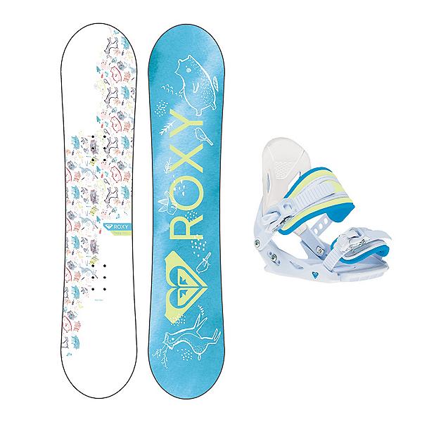 Roxy Poppy Girls Snowboard Package 2020, , 600