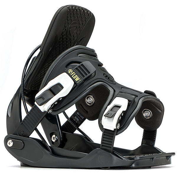 Flow Alpha Snowboard Bindings, Charcoal, 600