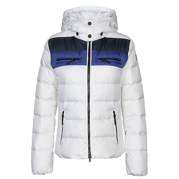 Bogner Fire + Ice Lela3 Down Womens Insulated Ski Jacket, Off White-Midnight-Blue Lilac, 600