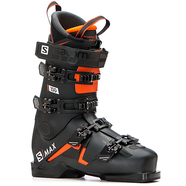 Salomon S-Max 100 Ski Boots 2020, Black-Orange-White, 600