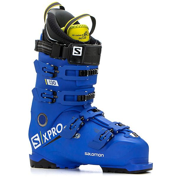 Salomon X-Pro 130 Ski Boots, Race Blue-Acid Green-Black, 600