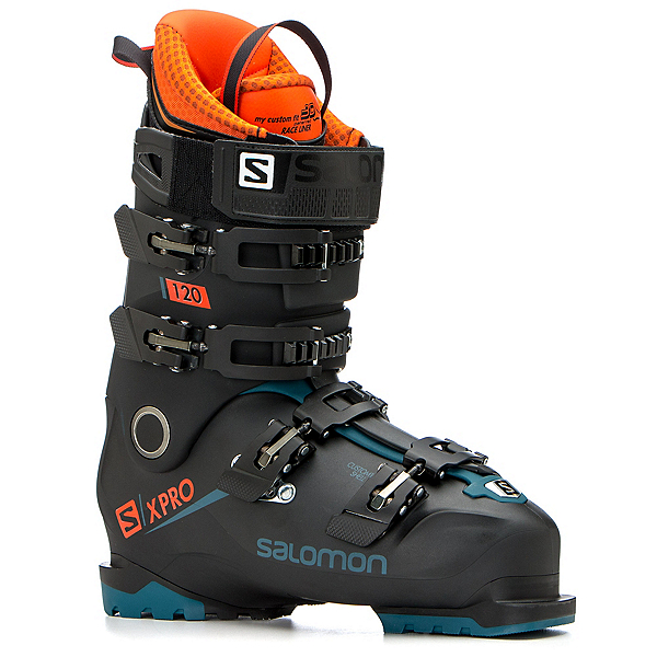 Salomon X-Pro 120 Ski Boots 2019, Black-Moroccan Blue-Orange, 600