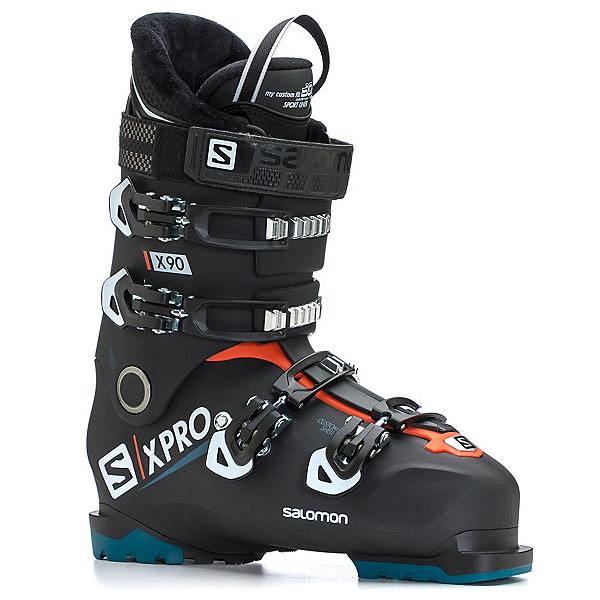 Salomon X-Pro X90 CS Ski Boots, Black-White-Moroccan Blue, 600