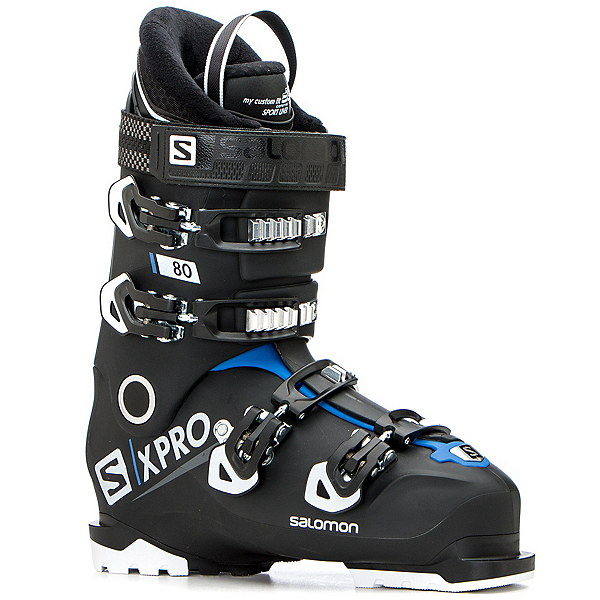Salomon X-Pro 80 Ski Boots 2019, Black-Race Blue-White, 600